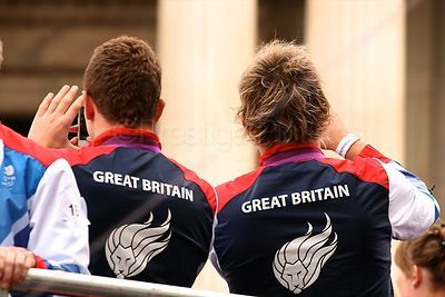 Logos on The backs of 2 Paralympic GB Athletes