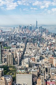 Aerial of lower Manhattan at daytime, New York, USA