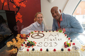 SAM St.Moritz Art Masters 2013 Staff and friends celebrating end of Art Masters  2013