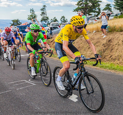 Froome in Yellow Jersey - Tour de France 2017