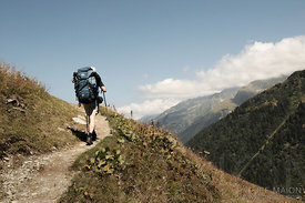 Backpacking in the Alps