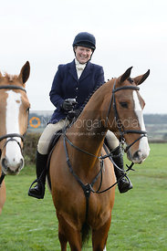 Emilie Chandler at the meet at Highfield Farm