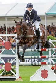 Sarah Cohen and TREASON - show jumping phase, Burghley Horse Trials 2013.