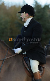 John Chatfeild-Roberts at the meet - The Belvoir Hunt at Waltham House