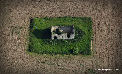 aerial photograph of the Chapel of St Andrew, Barret Ringstead, Old Hunstanton - King's Lynn and West Norfolk.