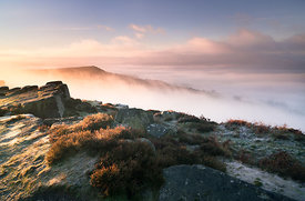 Curbar Edge December sunrise