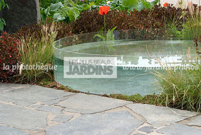 Contemporary garden, Pavement, Pool, Stone, Digital
