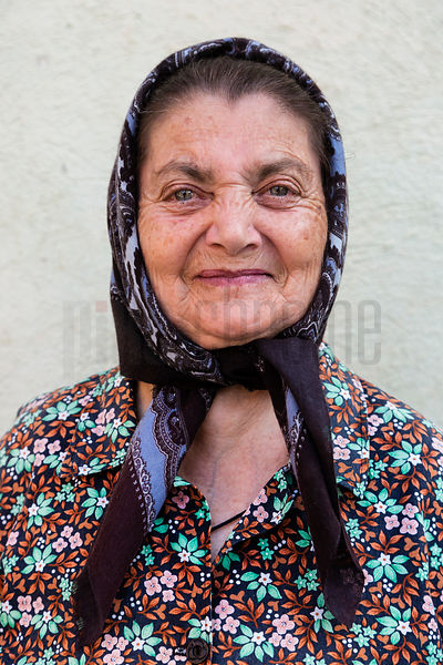 Portrait of a Woman Wearing a Headscarf