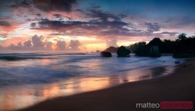 Sunrise over Bathsheba beach in the Barbados