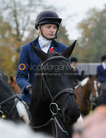 Harriet Wright - The Cottesmore Hunt meet at Oak House, Tilton On The Hill, Saturday 31st October 2015.