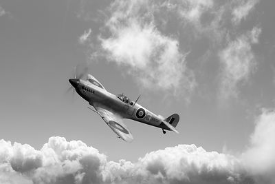 Spitfire in desert colours BW version