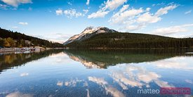 Lake Minnewanka panoramic, Banff National Park, Canada