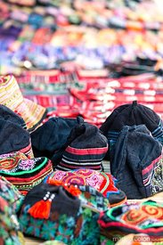 Local ethnic products for sale at Bac Ha market, Vietnam