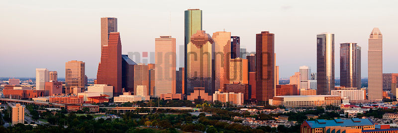 Houston Skyline at Sunset