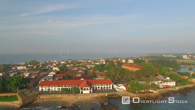 Dutch Hospital Shopping Precinct Galle Sri Lanka Drone Video