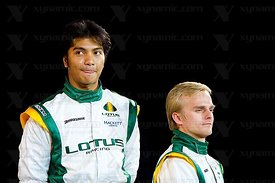 Fairuz Fauzy (MAS), Heikki Kovalainen (FIN), Lotus Cosworth T127 F1 Launch, Royal Horticultural Hall, London, GBR