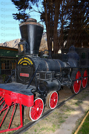 """Copiapó"", the train that performed the first railway journey between Copiapó and Caldera on 25 December 1851 , Copiapó , Region III , Chile"