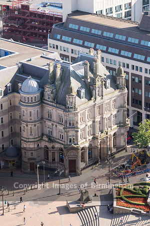 Aerial photograph of Birmingham City Centre, England. Offices in Victoria Square