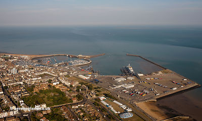 aerial photograph of Ramsgate  Kent England UK