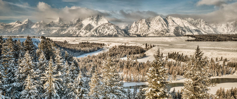 Snake River Overlook, Winter.  Grand Tetons National Park, Wyoming