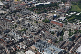 Bolton aerial photograph of Oxford Street looking towards the Bolton Bus Station