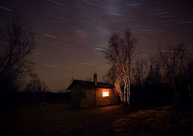 Wilderness Cabin And Stars