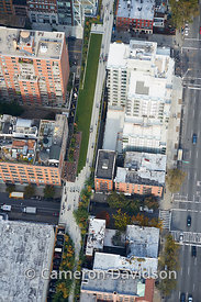 Aerial photograph of the High-Line Park in New York City.