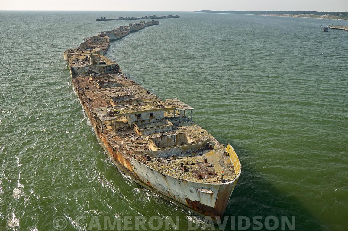 Aerial Stock Aerial Virginia Chesapeake Bay Kiptopeke