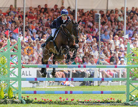 Kristina Cook and MINERS FROLIC - show jumping phase,  Mitsubishi Motors Badminton Horse Trials, 6th May 2013.