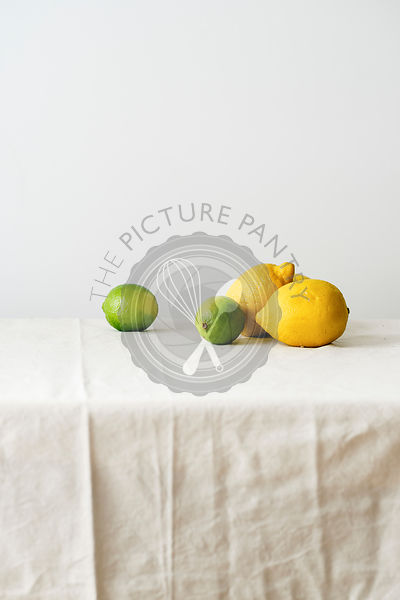 Сitrus fruits on a table