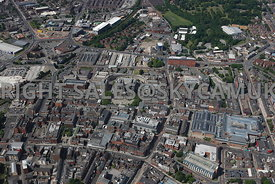 Bolton aerial photograph of the centre of Bolton main shopping area
