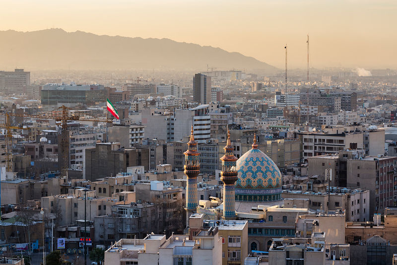 Elevated View of Tehran Towards the South at Sunrise