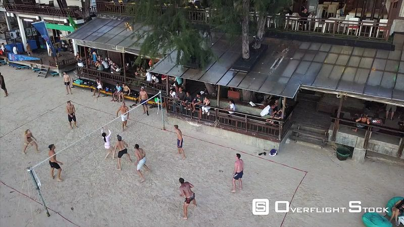 Beach Volleyball Drone Video Ko Tao, Ko Phangan District, Surat Thani, Thailand