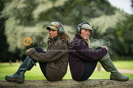 Female models wearing ear defenders at Stapleford Park