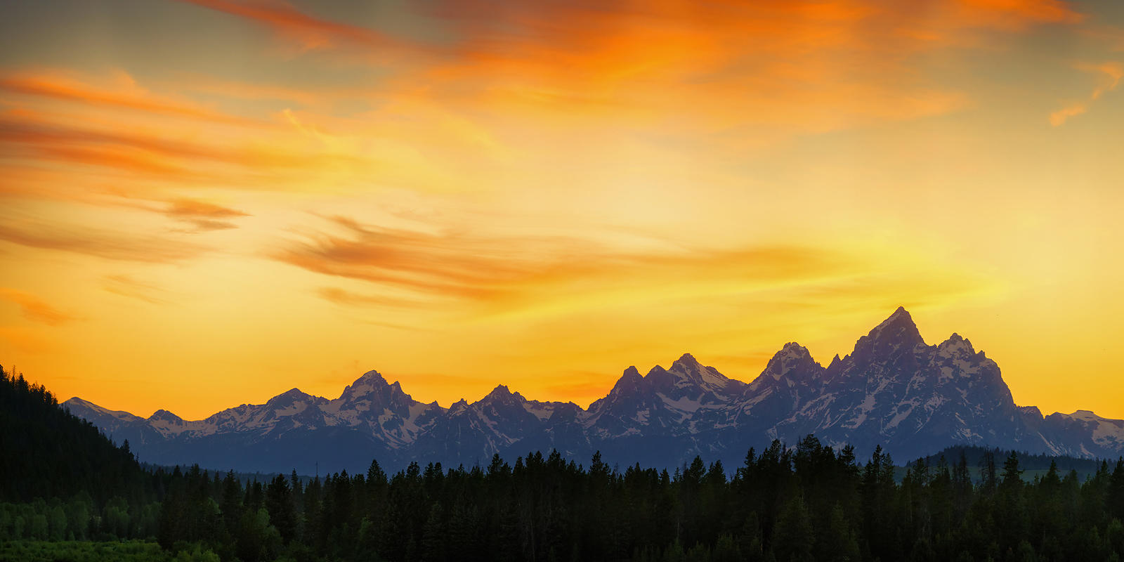Glowing Tetons