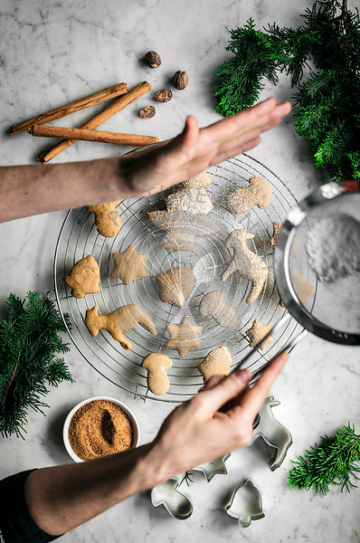 Vegan gingerbread cutout cookies
