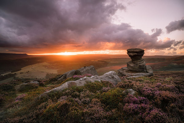 Salt Cellar sunset, Derwent Edge