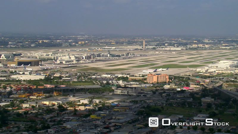 Flight past Miami International Airport.