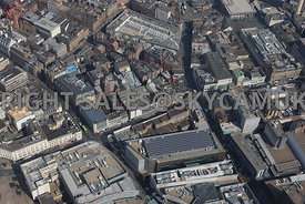 Liverpool aerial photograph of the Retail Centre of the area surrounding the former BHS department Store Lord Street