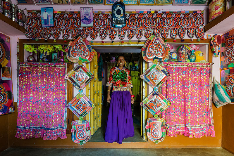 Gujarati Woman in her House