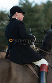 David Manning at the meet - The Belvoir Hunt at Waltham House