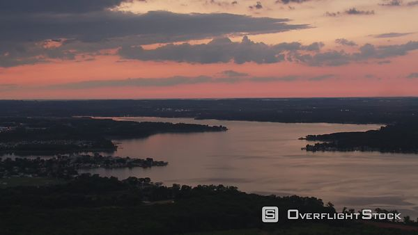 Baltimore, Maryland Aerial view of Chesapeake Bay at sunset.  Shot with Cineflex and RED EpicW Helium.