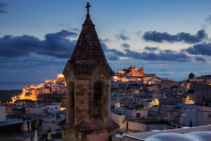 Elevated View of Ostuni from the Via Panoramica at Dawn
