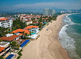 The beach looking south. Playa El Palmar, Ixtapa, Mexico.