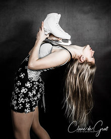 Studio Sports Portrait of a lovely figure skater
