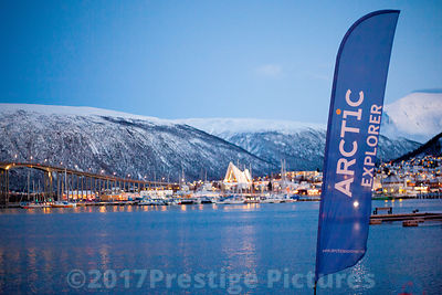 Arctic Explorer banner with the Tromsø Bridge in the background