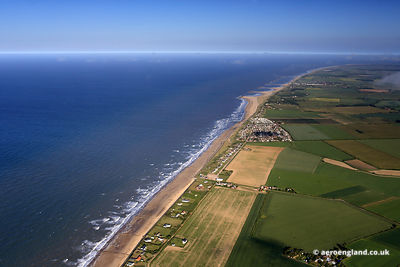 aerial photograph of Eccles-on-Sea, Norfolk England UK