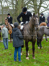 At the meet - The Belvoir Hunt at Buckminster
