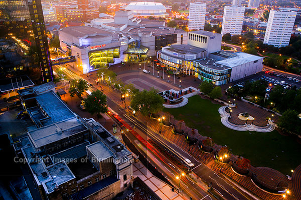 Centenary Square in Birmingham City Centre