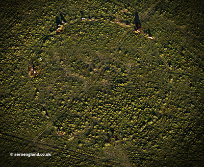 Fernacre stone circle Bodmin Moor aerial photograph